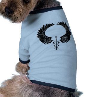 Caduceus Medical Symbol Pet T-shirt