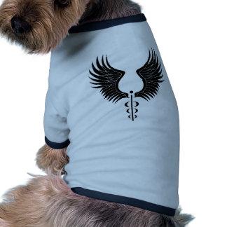 Caduceus Medical Symbol Dog T Shirt