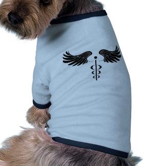 Caduceus Medical Symbol Doggie T-shirt