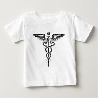 Caduceus -Medical symbol- made of circle cells Baby T-Shirt