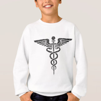Caduceus -Medical symbol- made of circle cells Sweatshirt