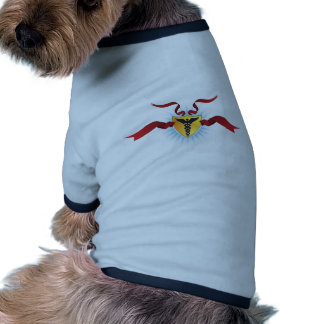 Caduceus Medical Symbol - Shield with Ribbon Pet Tee