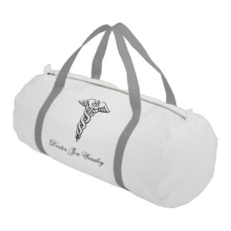 caduceus medicine symbol doctor gym bag
