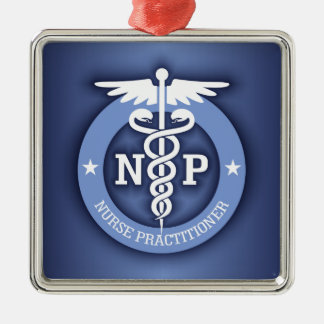 Caduceus NP (blue) Metal Ornament