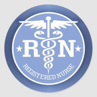 Caduceus RN 2 Classic Round Sticker