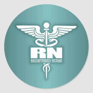 Caduceus RN 3 Classic Round Sticker