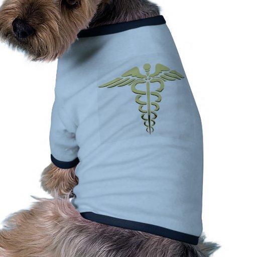 Caduceus Symbol Dog Tshirt