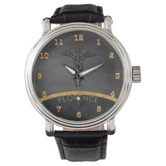 Caduceus Symbol | Nurses Nursing RN Chalkboard Wrist Watches