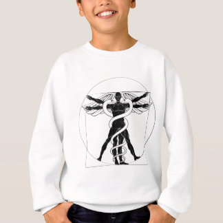 Caduceus Vitruvian Man Sweatshirt