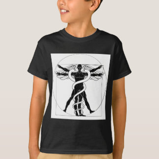 Caduceus Vitruvian Man T-Shirt