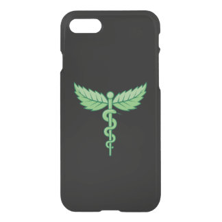 Caduceus with leaves iPhone 7 case