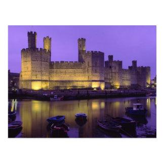 Caernarfon Castle, at Night, Gwynedd, Wales Postcard