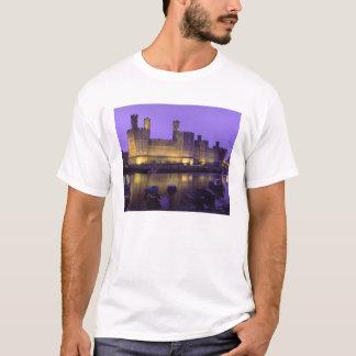 Caernarfon Castle, at Night, Gwynedd, Wales T-Shirt