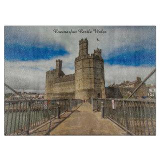 Caernarfon Castle Wales. Boards