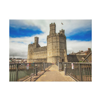 Caernarfon Castle Wales. Canvas Print