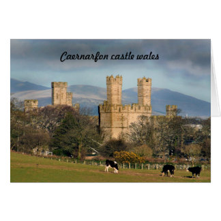 Caernarfon castle wales. card