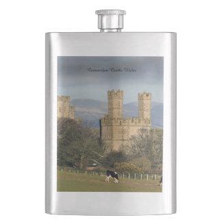 Caernarfon Castle Wales. Flask