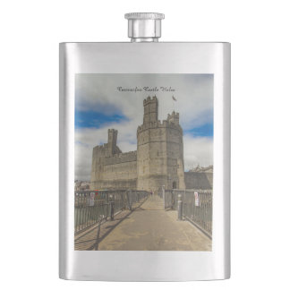 Caernarfon Castle Wales. Hip Flask