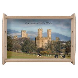 Caernarfon Castle Wales. Serving Tray