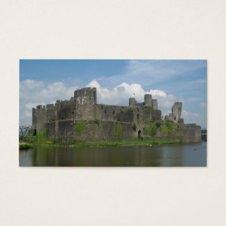 caerphilly castle business card