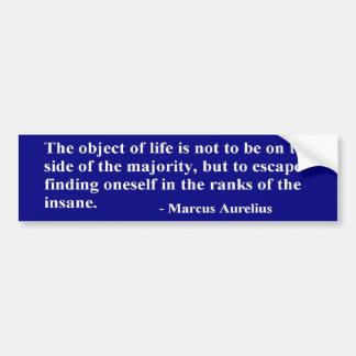 Caesar Marcus Aurelius Quote - Sticker