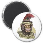 Caesar Roman Chimp 2 Inch Round Magnet