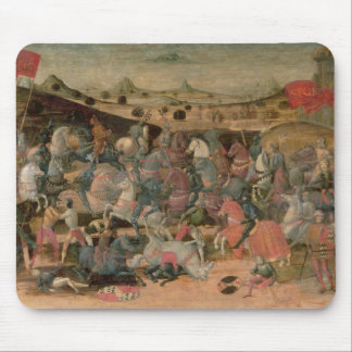 Caesar Triumphing in Battle (tempera on panel) Mouse Pad