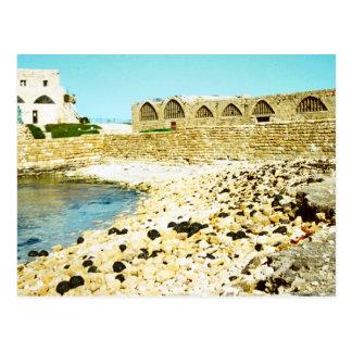 Caesarea - remains of the Roman port Postcard