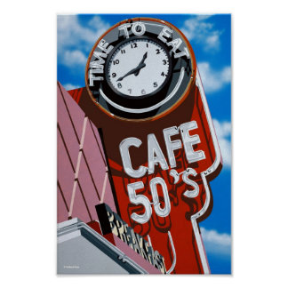 Cafe 50's Diner on Historic Route 66 Poster