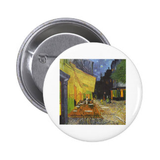 Cafe at Night by Vincent Van Gogh 2 Inch Round Button