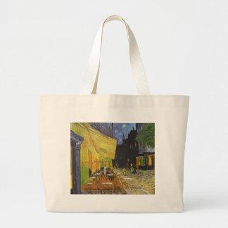 Cafe at Night by Vincent Van Gogh Jumbo Tote Bag