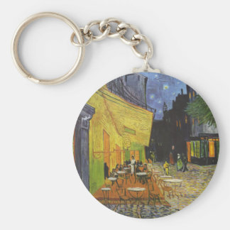 Cafe at Night by Vincent Van Gogh Basic Round Button Keychain