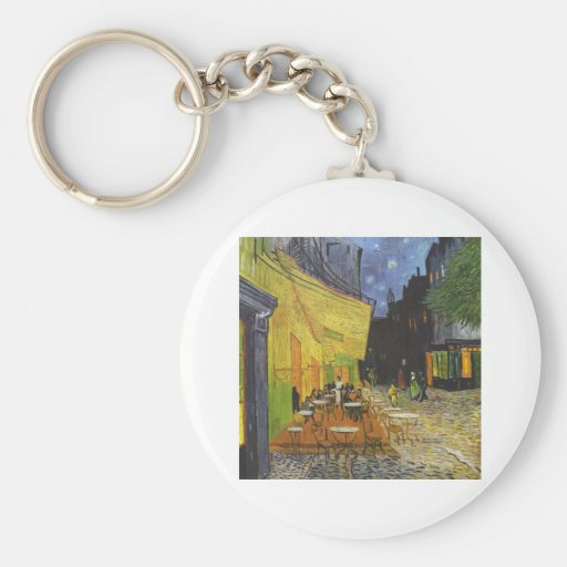 Cafe at Night by Vincent Van Gogh Key Chain