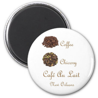 CAFE AU LAIT NEW ORLEANS COFFEE CHICORY MAGNET
