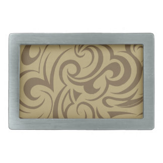 Café Au Lait Rectangular Belt Buckles