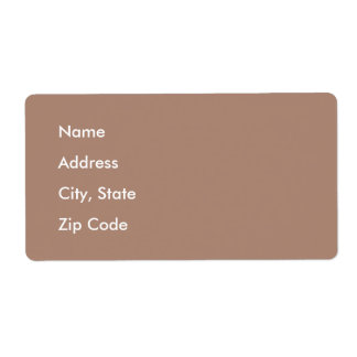 Cafe au Lait Shipping Label