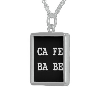 CAFE BABE - Java Programmer Sterling Silver Necklace