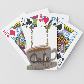cafe bicycle playing cards