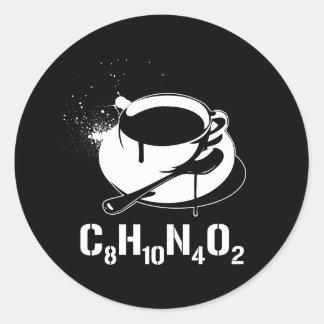 Café C8H10N4O2 Adhésifs Ronds