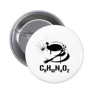 Café C8H10N4O2 Badges Avec Agrafe
