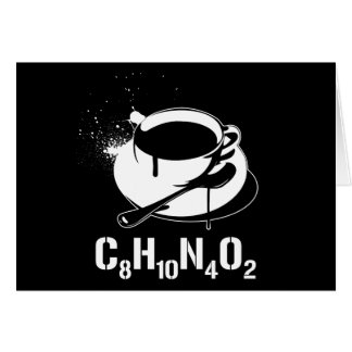 Café C8H10N4O2 Carte De Vœux