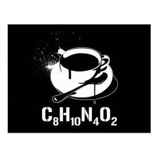 Café C8H10N4O2 Carte Postale