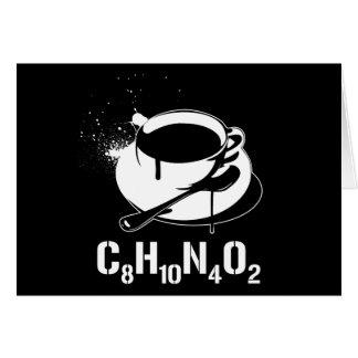 Café C8H10N4O2 Cartes De Vœux