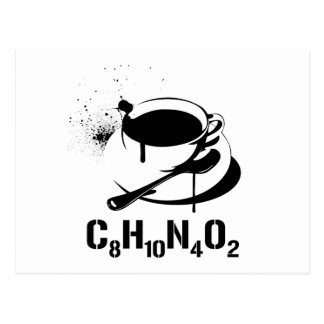 Café C8H10N4O2 Cartes Postales