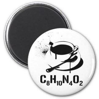 Café C8H10N4O2 Magnet Rond 8 Cm