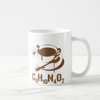 Café C8H10N4O2 Mug Blanc