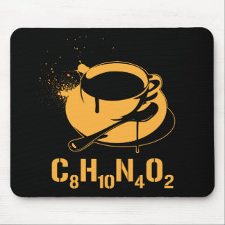 Café C8H10N4O2 Tapis De Souris