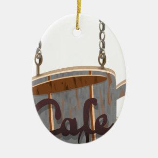 cafe ceramic ornament