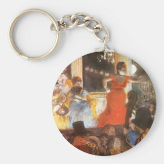 Cafe Concert at Les Ambassadeurs by Edgar Degas Basic Round Button Keychain