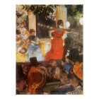 Cafe Concert at Les Ambassadeurs by Edgar Degas Poster